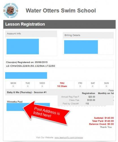 pool address invoice